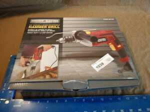 CHICAGO ELECTRIC 1/2 INCH VARIABLE SPEED HAMMER DRILL, 7.5 AMP MOTOR, STILL NEW IN BOX