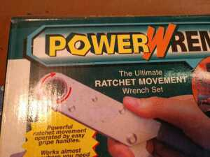 POWER WRENCH RATCHET WRENCH SET, LIKE NEW CONDITION, STILL IN ORIGINAL PACKAGE