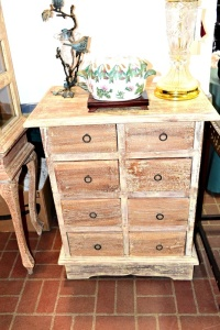 SHABBY CHIC  8 DRAWER TABLE 25 X 32
