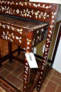 BEAUTIFUL WOOD AND MOTHER OF PEARL NESTING TABLES