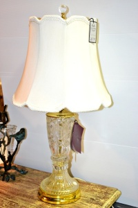 LEAD CRYSTAL LAMP  27""