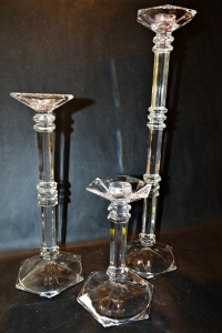 FINE LEAD CRYSTAL CANDLE STICKS