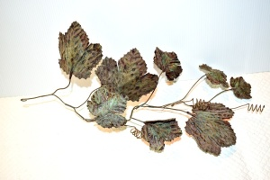 SOLID COPPER LEAF VINE NO TAGS