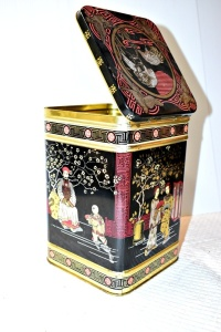 LARGE ASIAN MOTIF TIN