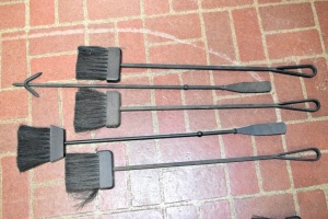 WROUGHT IRON FIRE TOOLS 5 PIECES
