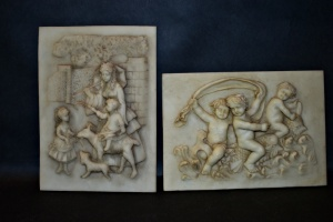 DECORATIVE 5X7 PLAQUES - CHERUBS AND LAMB
