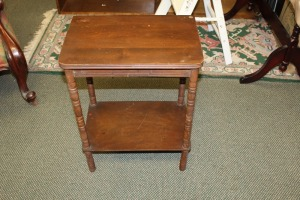 ANTIQUE RADIO TABLE
