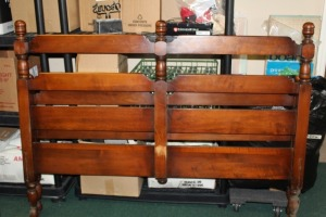 VINTAGE FULL SIZE BED WITH RAILS