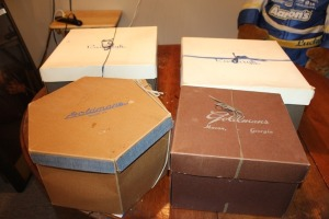 LOT OF 4 VINTAGE HAT BOXES