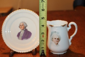 GEORGE WASHINGTON PLATE WITH STAND & BAVARIAN PITCHER