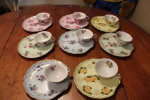 VINTAGE LEFTON CHINA COFFEE TEA SET 8 CUPS 8 PLATES