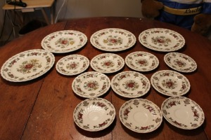 LOT OF 14 PIECES OF MYOTTS BOUQUET MADE IN STAFFORDSHIRE ENGLAND