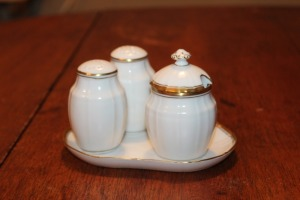 VINTAGE DANISH CONDIMENT SET BY B&G