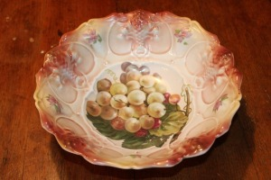 DECORATIVE HAND-PAINTED LARGE BOWL