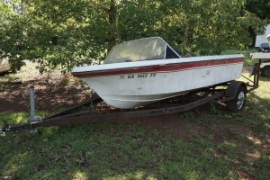 14ft FIBERGLASS BOAT & TRAILER