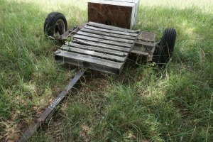 CUSTOM TRAILER TWO WHEEL VEHICLE DOLLY AND LARGE SAFE