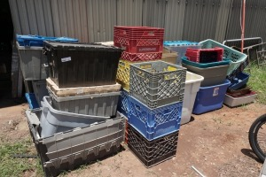LARGE LOT OF VARIOUS SIZE AND TYPES OF STORAGE CONTAINERS