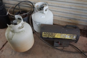 PROPANE HEATER AND BURNER WITH PROPANE TANK INCLUDED