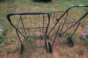 SET OF 2 LIGHT DUTY ROLLING CARTS