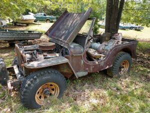1942 FORD GPW, serial number 11545 (WORLD WAR II MILITARY JEEP)