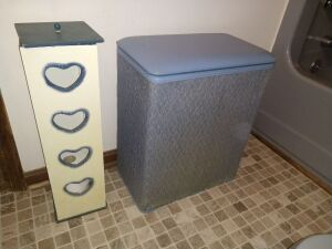Toilet Paper Holder and Clothes Hamper