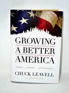 "CHUCK LEAVELL HAND AUTOGRAPHED BOOK ""GROWING A BETTER AMERICA"" - DONATED BY CHUCK AND ROSE LANE LEAVELL"
