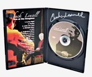 "CHUCK LEAVELL HAND AUTOGRAPHED DVD ""LIVE AT THE DOUGLAS"" - DONATED BY CHUCK AND ROSE LANE LEAVELL"