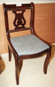 ANTIQUE LYRE / HARP SPLAT CHAIR, MATCHES 1053 - LIV