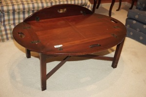 VINTAGE WOODEN FOLDING BUTLER TOP COFFEE TABLE - LIV