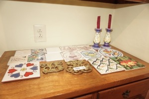 DECORATIVE TILES, TRIVETS, AND CANDLESTICKS - LIV