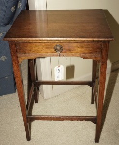 VINTAGE / ANTIQUE SINGLE DRAWER TELEPHONE TABLE - DIN
