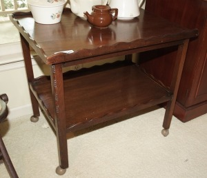 VINTAGE TWO-TIER TEA CART / TABLE - DIN