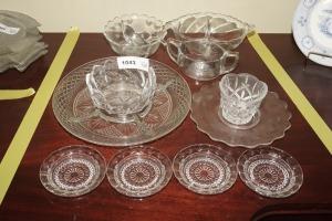 FORMAL GLASS SERVING PIECES AND COASTERS - DIN
