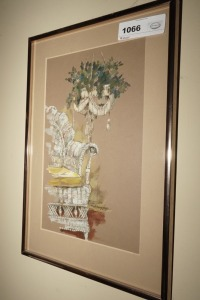 FRAMED, MATTED, AND SIGNED ART BY CAROL POPE - DEN