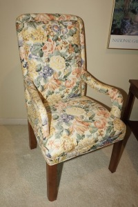 VINTAGE UPHOLSTERED ARMCHAIR, MATCHES 1097 - DEN