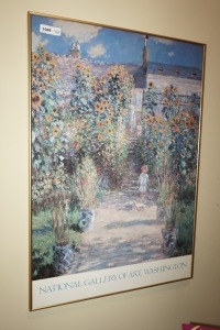 LARGE FRAMED CLAUDE MONET ART PRINT - DEN