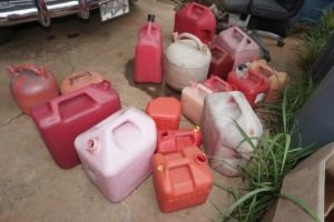 LARGE GROUP OF GAS CANS