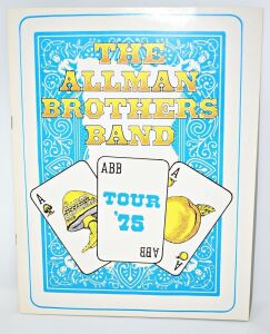 ALLMAN BROTHER'S BAND Win Lose or Draw 1975 tour program in MINT CONDITION - DONATED BY MARK PUCCI