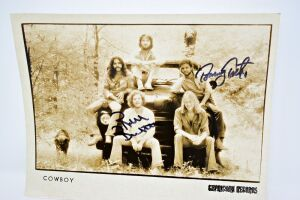 AUTOGRAPHED COWBOY ORIGINAL CAPRICORN PROMOTIONAL 8X10 - DONATED BY TOMMY TALTON
