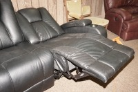 MODERN POWER RECLINING SOFA WITH ADJUSTABLE HEADRESTS, USB PORT, POWER OUTLETS, LIGHTED HEADREST, AND LIGHTED CUP HOLDERS - 5