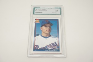 1991 TOPPS IVAN RODRIGUEZ BASEBALL CARD, AGS GRADED 9.0 MINT
