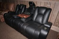 MODERN POWER RECLINING SOFA WITH ADJUSTABLE HEADRESTS, USB PORT, POWER OUTLETS, LIGHTED HEADREST, AND LIGHTED CUP HOLDERS - 10