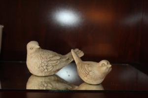 PAIR OF DECORATIVE BIRDS