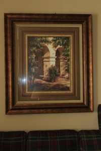 LARGE NICELY FRAMED PRINT SIGNED