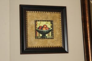 NICELY FRAMED PRINT OF FRUIT
