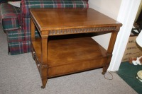 VINTAGE MORGANTON END TABLE WITH DRAWER - 2