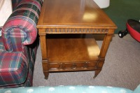 VINTAGE MORGANTON END TABLE WITH DRAWER - 4
