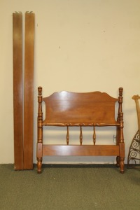 ETHAN ALLEN BAUMRITTER TWIN BED WITH RAILS