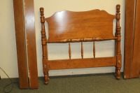 ETHAN ALLEN BAUMRITTER TWIN BED WITH RAILS - 3
