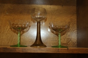 3 CRYSTAL GLASSES